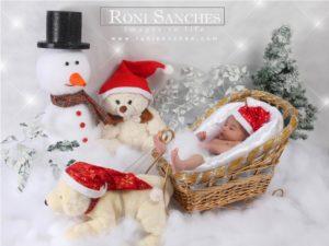 ensaio fotografico de bebê no natal