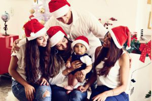 família no natal