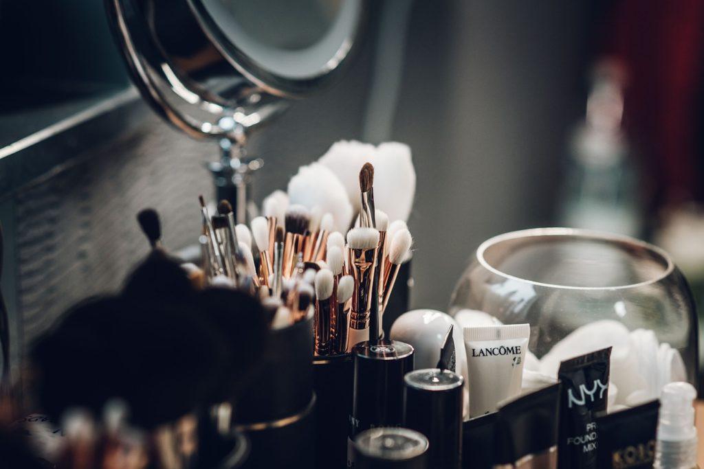 glass, makeup, cosmetics