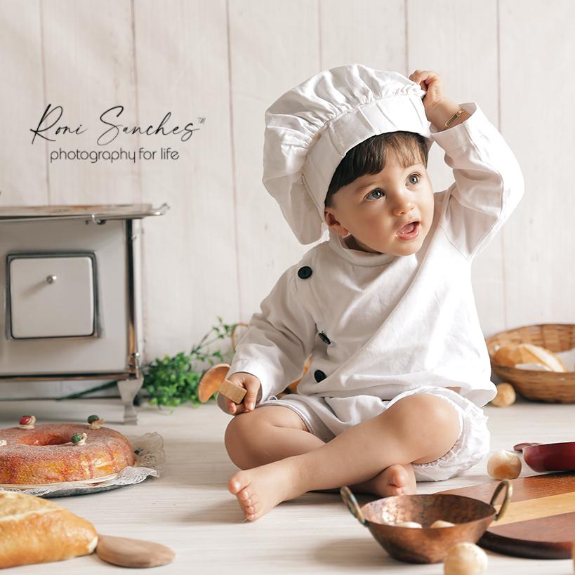 Ensaio bebê cozinheiro