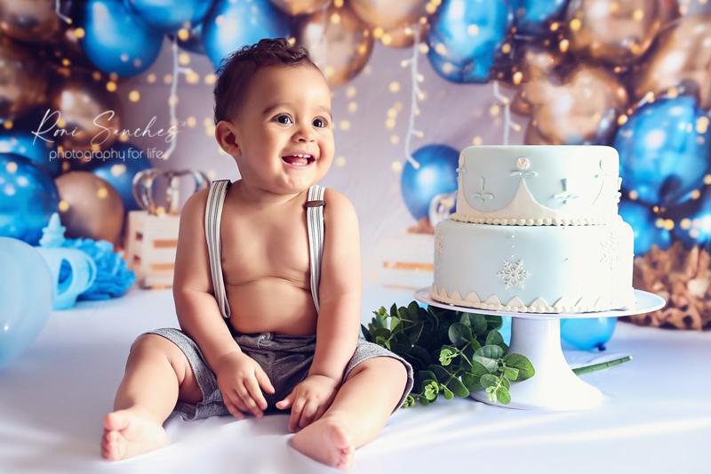 smash the cake bebê menino