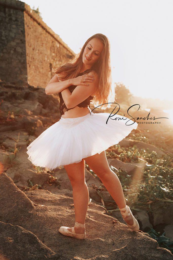 ensaio fotografico externo modelo bailarina