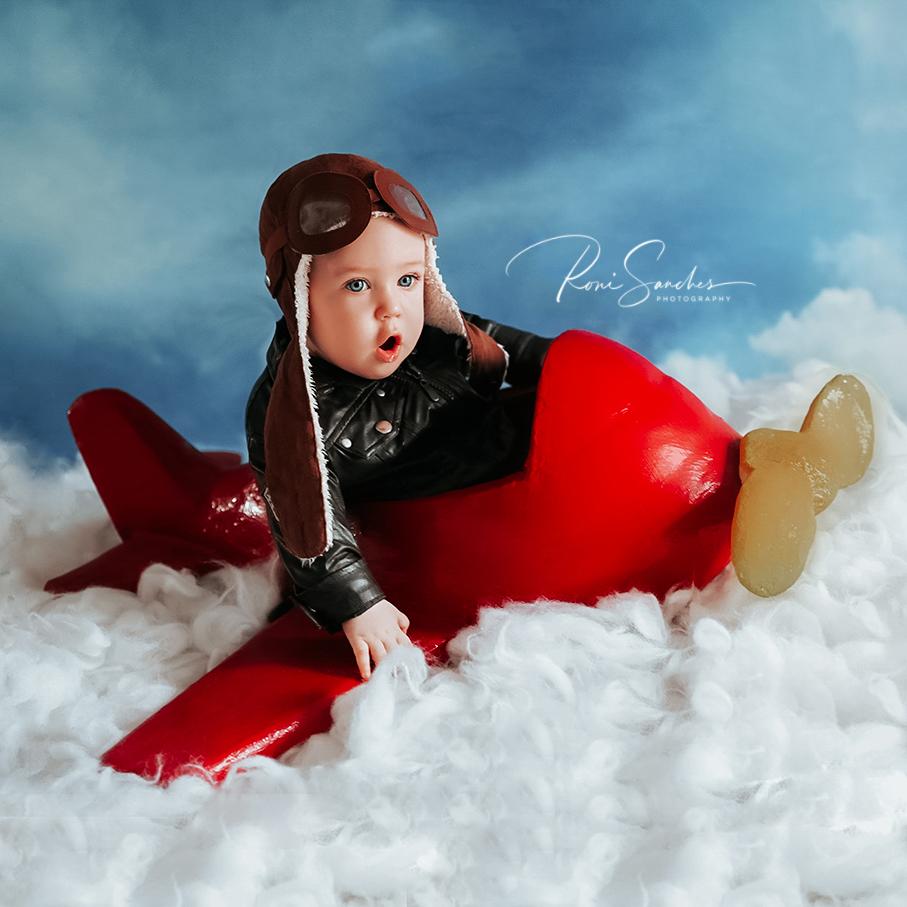 Ensaio de Bebê aviador